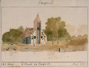 Kapel in het Langeveld door Abraham de Haen